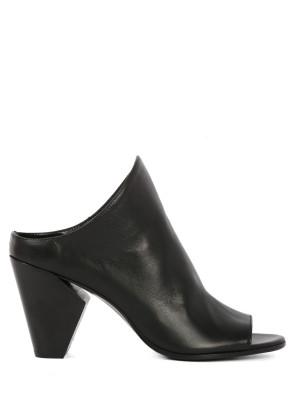Sandalo in pelle Nera 80mm