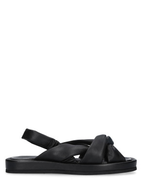 Sandalo in pelle nappa nero
