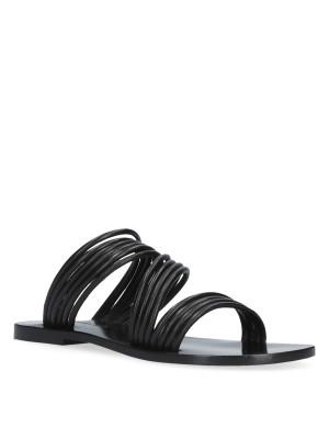 Sandalo flat nero