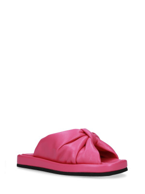 Sandalo in pelle nappa Fuxia