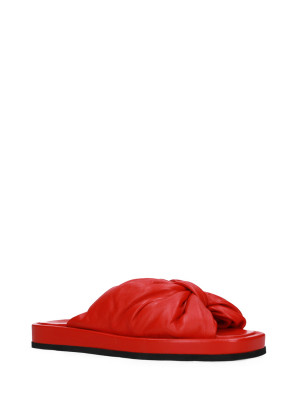 Sandalo in pelle nappa red