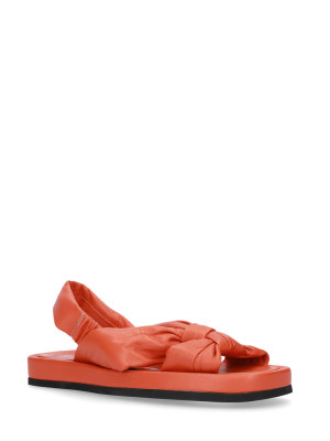 Sandalo in pelle nappa orange
