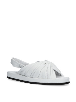 Sandalo bianco con elastico