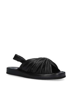 Black sandal with elastic band