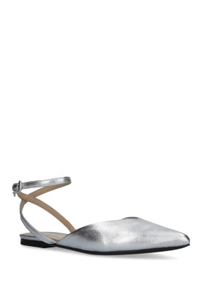 BALLERINA IN PELLE SILVER CON INCROCIO