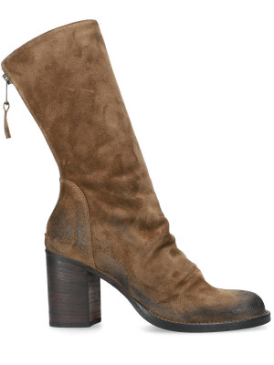 80MM BROWN SUEDE ANKLE BOOTS