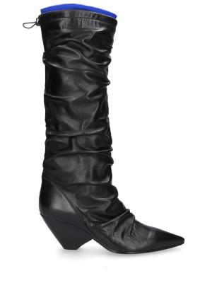 70mm Black Vintage Leather Boots