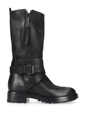 80mm Black Leather Boots