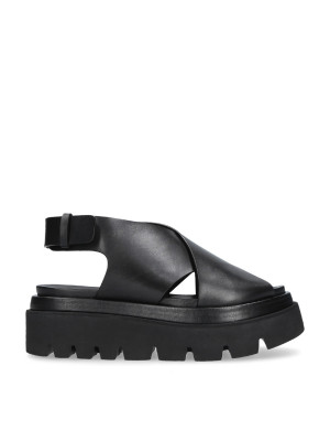 Black cross sandal