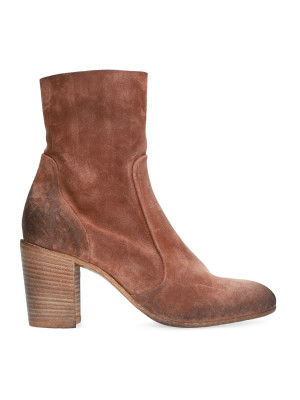 Leather suede ankle boot