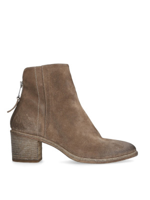 Mud-colored Ankle Boots