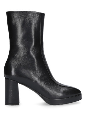 BLACK ANKLE BOOTS WITH PLATEAU