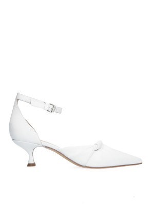 White decolleté with ankle strap