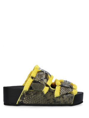 FLUO YELLOW SANDAL