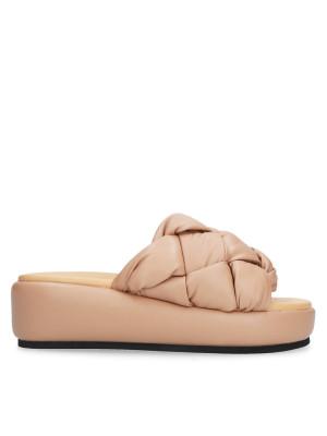 Nude Padded Sabot Sandal