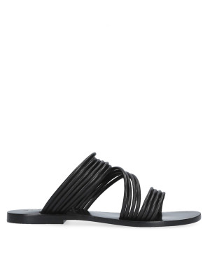 Flat black sandal