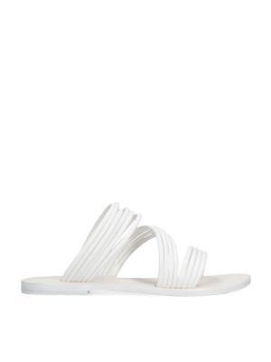 Flat White Sandal