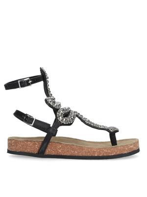 Black flip flop sandal snake