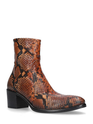 MM60 Snake Brown Ankle Boots