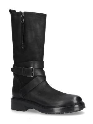 40mm Black Leather Boots
