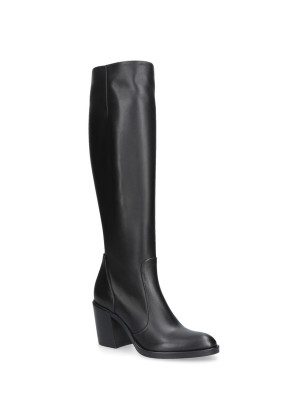 BLACK NATURAL LEATHER BOOTS