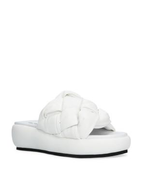 Padded Sabot Sandal White
