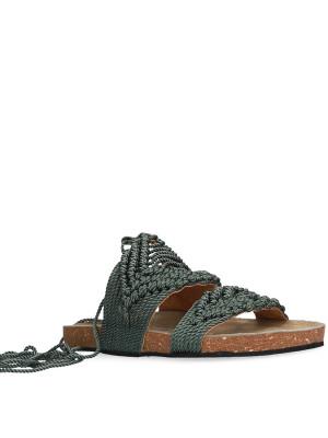 Military macramé sandal