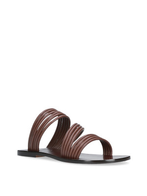 Leather-colored Flat Sandal