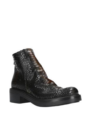 50mm Black Snake Ankle Boots