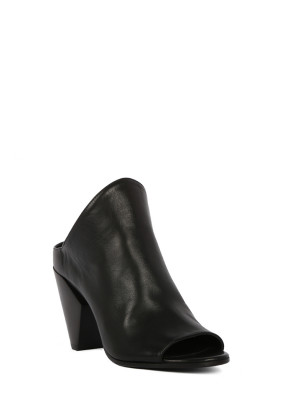 Black Leather mules  sandals