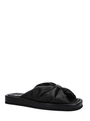 Sandalo in pelle nappa black