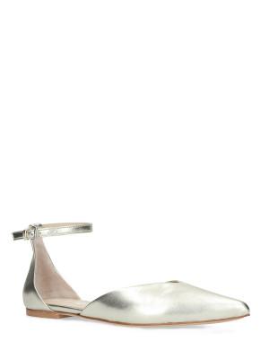 Ballerina in pelle platino