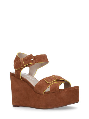 WEDGE SANDAL FLUO YELLOW