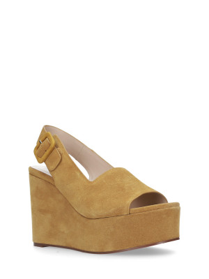 WEDGE SANDAL MUSTARD
