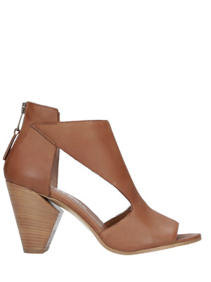 Bottines en Cuir 80mm Talon