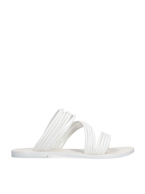 Sandalo flat bianco