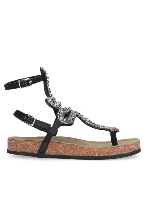 Sandalo infradito serpente nero