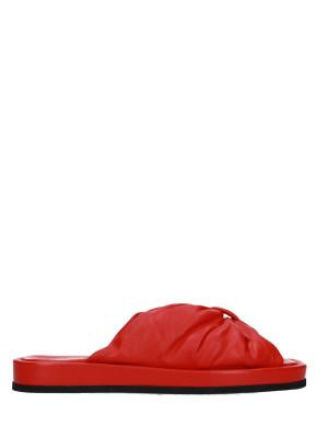 Sandalo in pelle nappa red