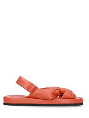 Sandalo in pelle nappa orange