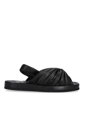 Black sandal with elastic band