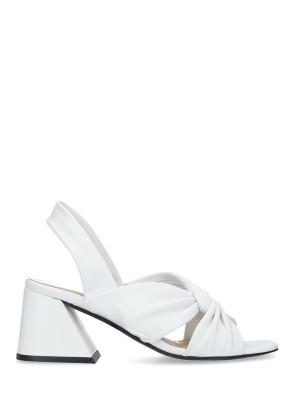 Sandalo in pelle nappa bianco