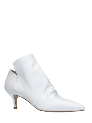 Bottines en cuir Blanc