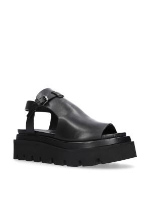 Sandalo in pelle nero