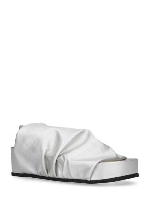 Sandalo Sabot Stretch Silver