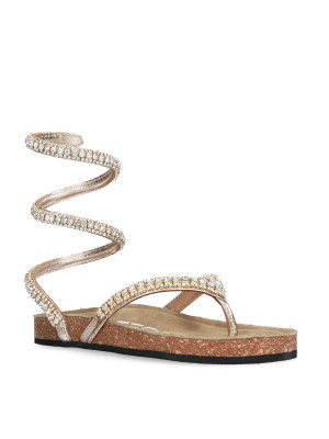 Sandalo infradito platino