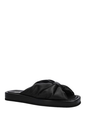 Sandalo in pelle nappa black