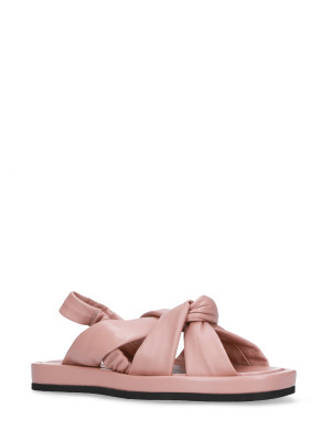 Sandalo in pelle nappa cipria